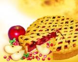 Яблочно-брусничный торт