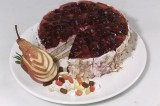 Ягодный вишневый торт